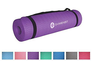 Gymenist Thick Exercise Yoga Floor Mat Nbr 24 X 71 Inches Great For Camping Cardio Workouts Pilates Gymnastics (Purple)