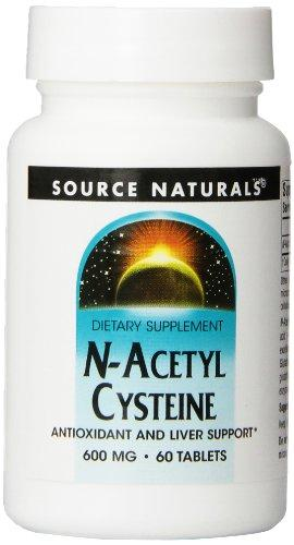 Source Naturals N-Acetyl Cysteine 600Mg Powerful Antioxidant - Protection - Pure Enzymes - 60 Tablets