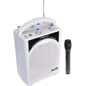 Pyle-Pro Pwma100 - Rechargeable Portable Pa System With Wireless Mic