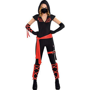 Amscan Dragon Fighter Ninja Halloween Costume For Women, Small, With Included Accessories