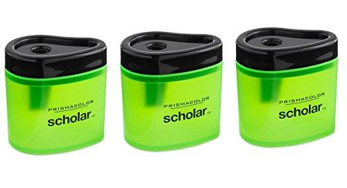 Prismacolor 1774266 Scholar Colored Pencil Sharpener, 3 Piece