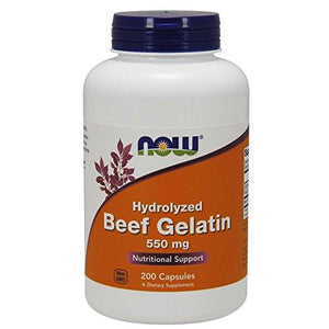 Now Foods Beef Gelatin 550 Mg,200 Capsules