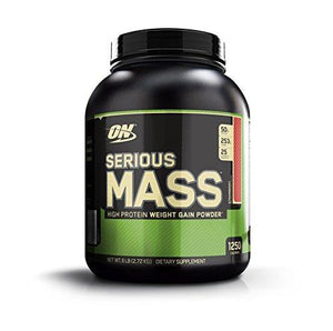 Optimum Nutrition Serious Mass Weight Gainer Protein Powder, Strawberry, 6 Pound