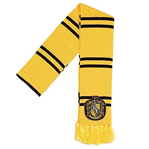 Harry Potter Hufflepuff Patch Knit Scarf,Yellow,One Size