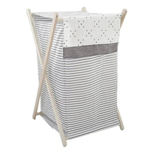 My Baby Sam Imagine Hamper, Gray and White