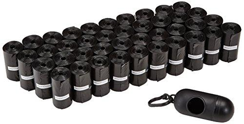 Amazonbasics Dog Waste Bags With Dispenser And Leash Clip - 600-Count