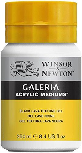 Winsor & Newton Galeria Acrylic Medium Black Lava Texture Gel, 250Ml