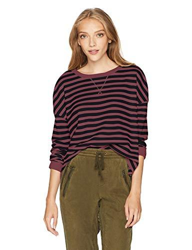 Fox Junior'S Striped Out Long Sleeve Crop Thermal, Rose, Xl