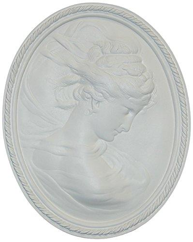Hickory Manor House Right Facing Cameo Decorative Wall Panel, Bright White