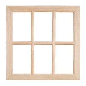 Darice 17 Inch Unfinished Wood Window
