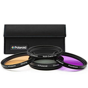 Polaroid 4Piece Multicoated Filter Set Filterdust Filter Kit For Dslr Camera Black Box 4Piece (S)
