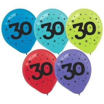 Amscan 30Th Birthday Party Balloons - 15 Ct