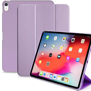 Khomo Ipad Pro 11 Inch Case (Released 2018) - Dual Super Slim Cover With Rubberized Back And Smart Feature (Purple)