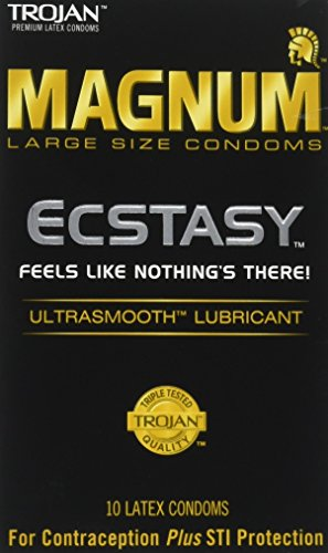 Trojan Condom Magnum Ecstasy Ultrasmooth Lubricated, 10 Count