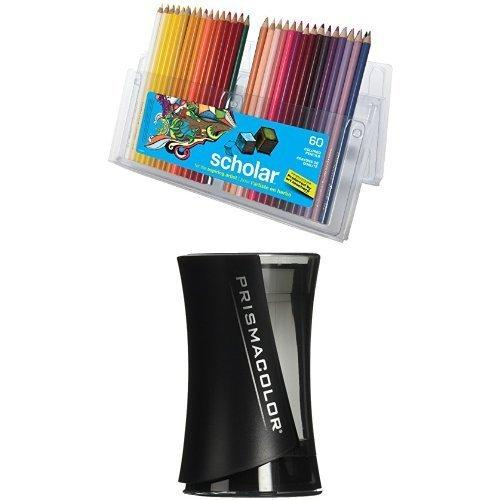 Prismacolor Scholar Colored Pencils, 60 Pack With Pencil Sharpener