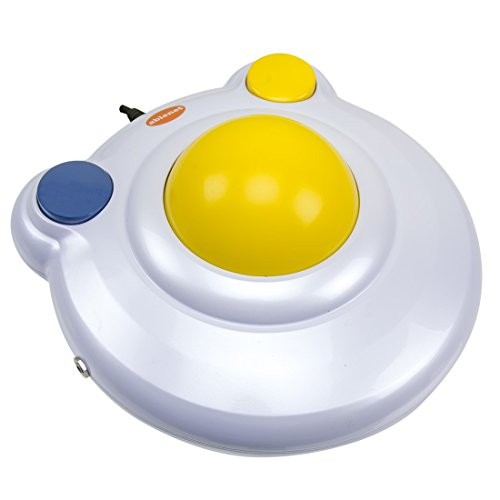 "BIGtrack 2.0 Trackball - for Users who Lack Fine Motor Skills to Use a Mouse. A Big 3"" Trackball with 2 Blue (Left and Right) Mouse Buttons - #12000006"