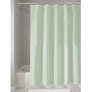 Interdesign 72-Inch-By-72-Inch Fabric Waterproof Shower Curtain Liner, Seafoam Green