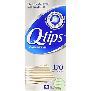 Q-Tips Cotton Swabs 170 Count (2 Pack) by Q-Tips