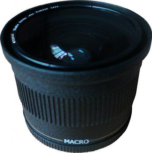 Polaroid Studio Series 72Mm .42X High Definition Fisheye Lens With Macro Attachment, Includes Lens Pouch And Cap Covers