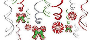 Amscan Candy Cane Swirl Decorations 12 Ct