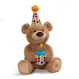 Gund Animated Happy Birthday Teddy Bear Stuffed Animal Plush, 10""