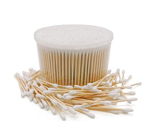 1000Pcs Bamboo Cotton Swabs, Biodegradable Wooden Cotton Buds