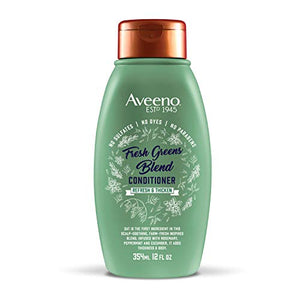 Aveeno Scalp Soothing Fresh Greens Blend Conditioner, peppermint, 12 Fl Oz