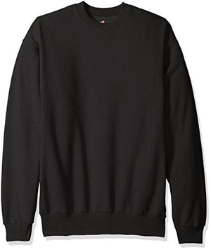 Hanes Men'S Ecosmart Fleece Sweatshirt Black Large