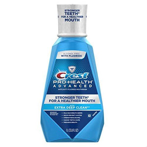 Crest Pro-Health Advanced Mouthwash With Extra Deep Clean, Fresh Mint Flavor, 33.8 Fl Oz