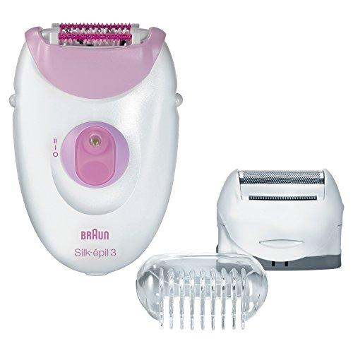 Braun Silk-Epil 3-3270 Women'S Epilator Electric Hair Removal With Shaver Head Trimmer Cap