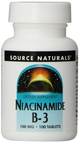 Source Naturals Niacinamide 100Mg Vitamin B3 Supplement - Flush Free - 100 Tablets