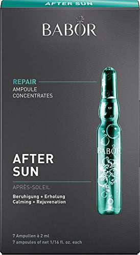 BABOR After Sun Ampoule Serum Concentrates, Soothing Antioxidant Face Treatment, with Rosemary Extract and Vitamin B to Treat Sunburned and Irritated Skin, Hypoallergenic