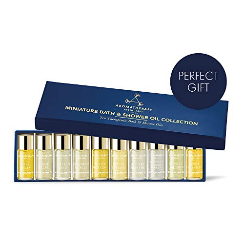 Aromatherapy Associates Discovery Wellbeing Miniature Bath & Shower Oil Gift Collection of 10, 3ml therapeutic, hand-selected bath and shower oils infused with essential oils. The ultimate gift.