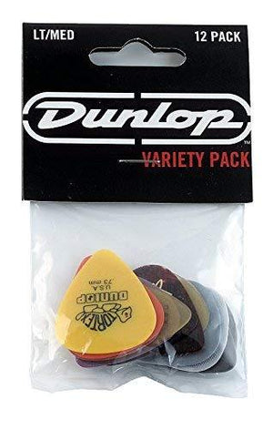 Jim Dunlop 12 Pick Variety Pack Light/ Medium