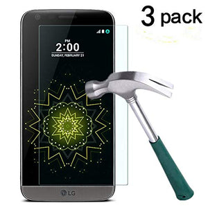 LG G5 Screen Protector,TANTEK [Anti-Bubble][HD Ultra Clear][Scratch Resist][Anti-Glare][Anti Fingerprint] Premium Tempered Glass Screen Protector for LG G5,[Lifetime Warranty]-[3-Pack]