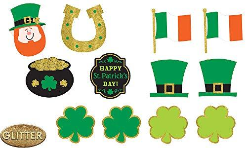 Amscan 190565 St. Patrick'S Day Cutouts, Assorted Sizes, Multicolored