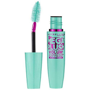 Maybelline New York Volume Express Mega Plush Waterproof Mascara, Very Black, 0.3 Fluid Ounce