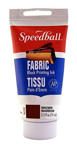 Speedball Fabric Block Printing Ink, 2-1/2 Oz, Brown