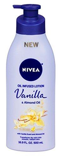 Nivea Lotion Oil-Infused Vanilla/Almond Oil 16.9 Ounce Pump (500Ml) (2 Pack)