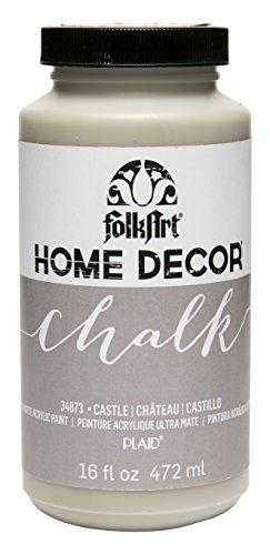 Folkart Home Decor Chalk Furniture & Craft Paint In Assorted Colors (16 Oz), 34873 Castle