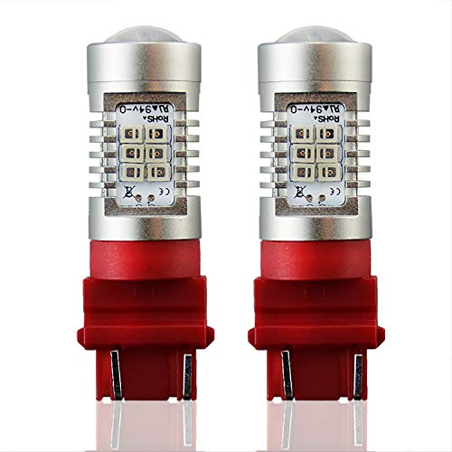 JDM ASTAR Extremely Bright PX Chipsets 3056 3156 3057 3157 LED Bulbs For Brake Light Tail lights, Brilliant Red