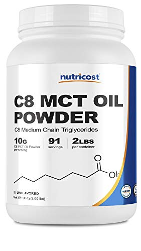 Nutricost C8 MCT Oil Powder 2LBS (32oz) - 95% C8 MCT Oil Powder
