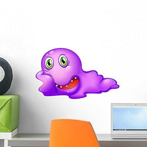 Wallmonkeys A Purple Monster Wall Decal Peel and Stick Graphic WM118593 (18 in W x 11 in H)