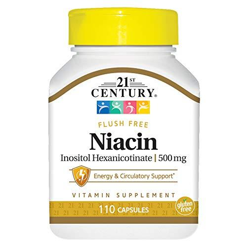 21St Century Niacin 500 Mg Flush Free Capsules, 110 Count