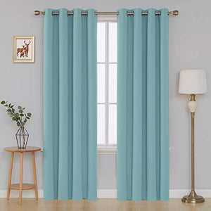 Deconovo Blackout Curtain 52X95 Inch Light Blue