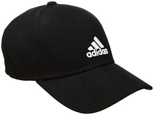 Adidas Mens Rucker Stretch Fit Cap, Black/White, Small/Medium