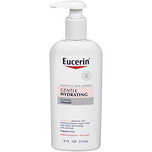 Eucerin Gentle Hydrating Foaming Cleanser, 8 Fluid Ounce (Pack Of 3)