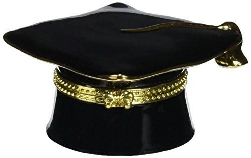Cosmos 10415 Fine Porcelain Graduation Hat Hinged Box, 1-5/8-Inch