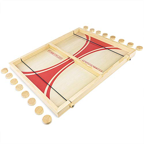 GoSports Pass The Puck Game Set | Rapid-Shot Tabletop Board Game - Fun for Kids & Adults