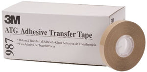 3M ATG Adhesive Transfer Tape 987, Clear, 1/2 in x 36 yd, 1.7 mil